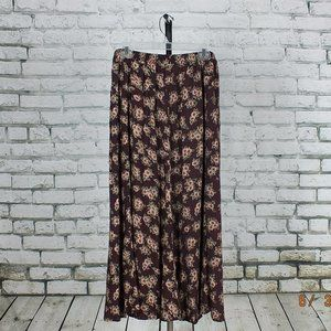 LIZ BAKER ESSENTIALS Skirt size 1X color burgundy